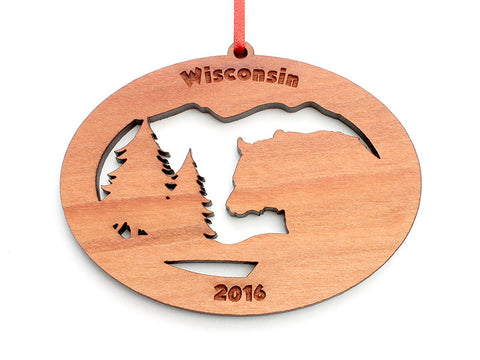 Northwoods Bear Ornament - Nestled Pines