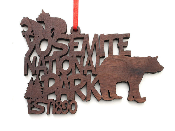 Yosemite NP Bear Text Ornament - Nestled Pines