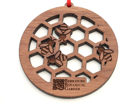 Berkshire Botanical Garden Honeycomb Honey Bee Ornament