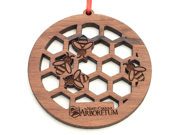 North Carolina Arboretum Circle Bee Honeycomb Ornament