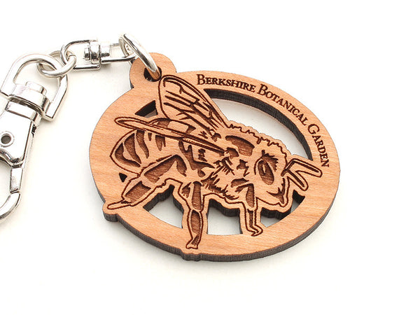 Berkshire Botanical Garden Honey Bee Key Chain