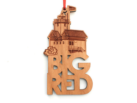 Home & Co Big Red Custom Text Ornament - Nestled Pines