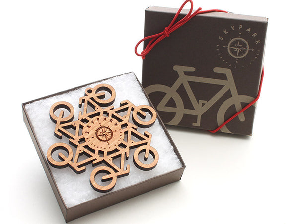 "Skypark Custom Bike ""Flake"" Ornament - Nestled Pines - 2"