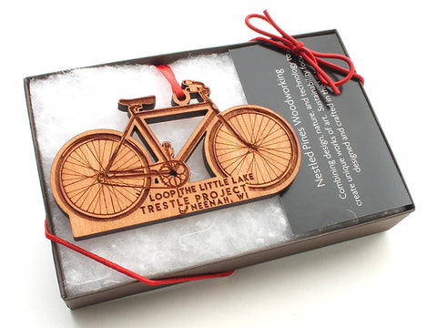 Red Door Retail Custom Bike Ornament - Nestled Pines