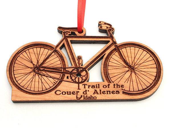 Birds Nest Bicycle Custom Ornament