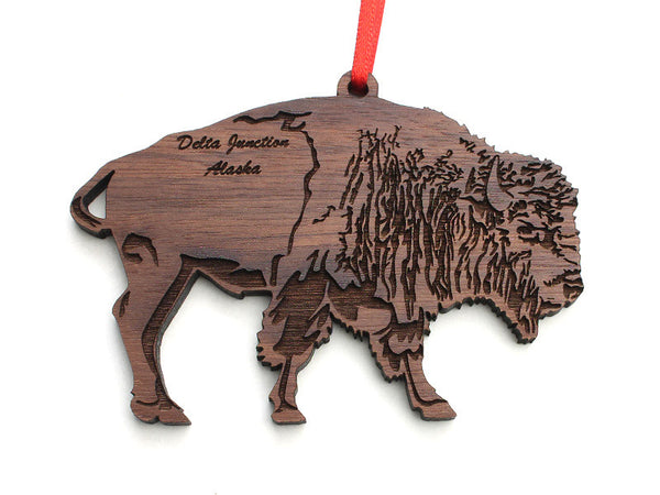 Smiling Moose Bison Ornament ND - Nestled Pines
