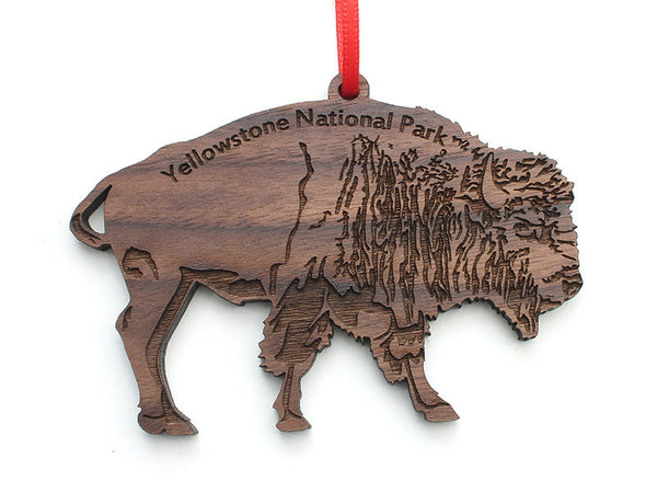 Bison Ornament ND - Nestled Pines