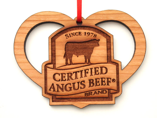 Certified Angus Logo Heart Ornament