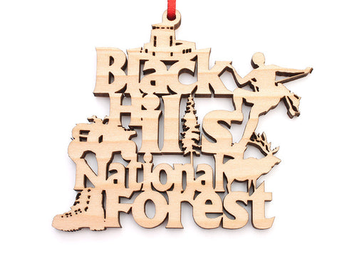 Black Hills National Forest Text Ornament - Nestled Pines