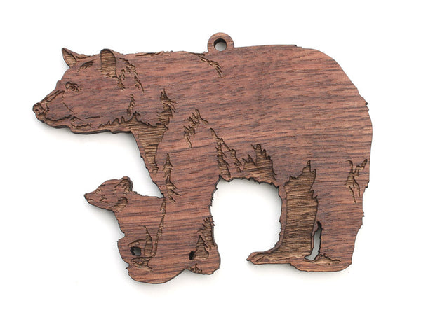 Black Bear with Cub Ornament - Nestled Pines