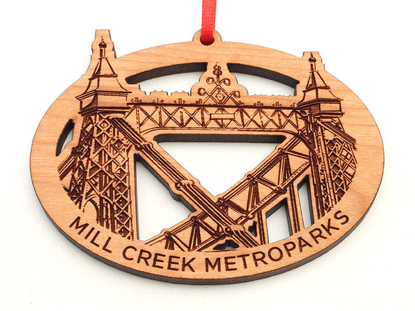 Mill Creek Park Suspension Bridge Ornament