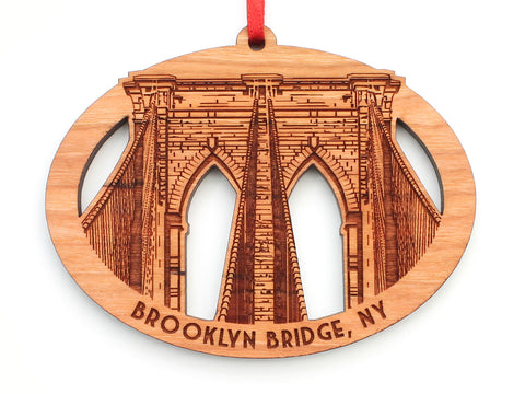 New York City Brooklyn Bridge Oval Ornament