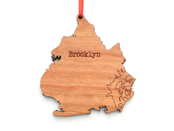 Brooklyn NYC Borough Ornament - Nestled Pines