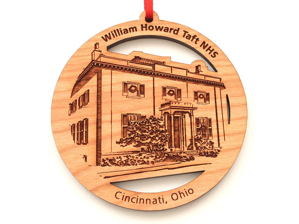 William Howard Taft NHS Facade Circle Ornament