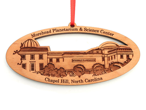 Morehead Planetarium & Science Center Oval Custom Ornament - Nestled Pines