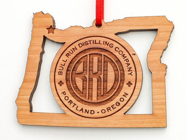 Bull Run Distillery Oregon State Logo Insert Ornament