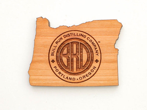 Bull Run Distillery Oregon State Logo Magnet