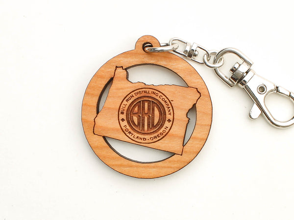 Bull Run Distillery Oregon Logo Key Chain