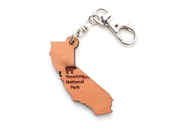 Yosemite NP California State Key Chain - Nestled Pines
