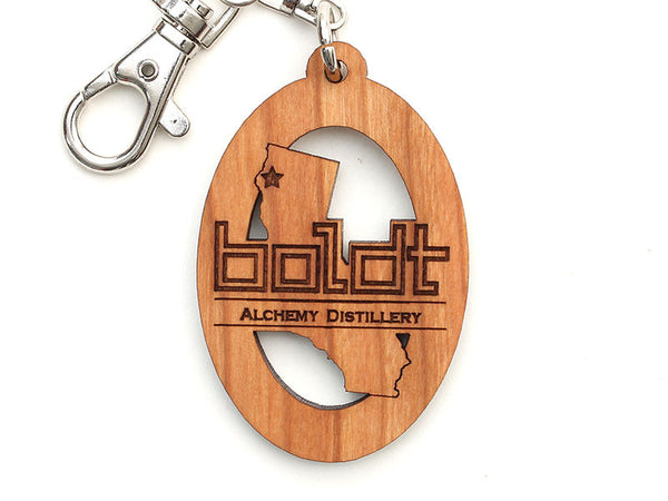 Boldt Alchemy Distillery California Logo Key Chain