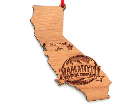 Mammoth Brewing Company California State Logo Insert Ornament