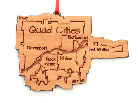 WaterMark Corners Quad Cities Ornament - Nestled Pines