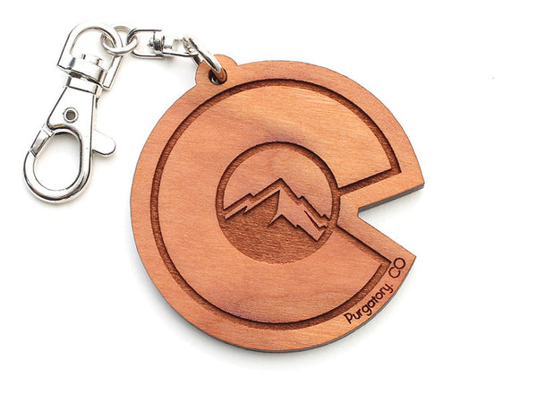 Purgatory Colorado Flag Mountain C Key Chain