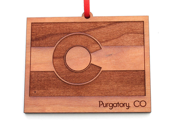 Purgatory Colorado State Flag Ornament
