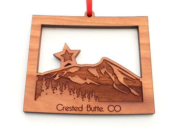 Casa Bella Crested Butte CO State Mountain Insert Ornament