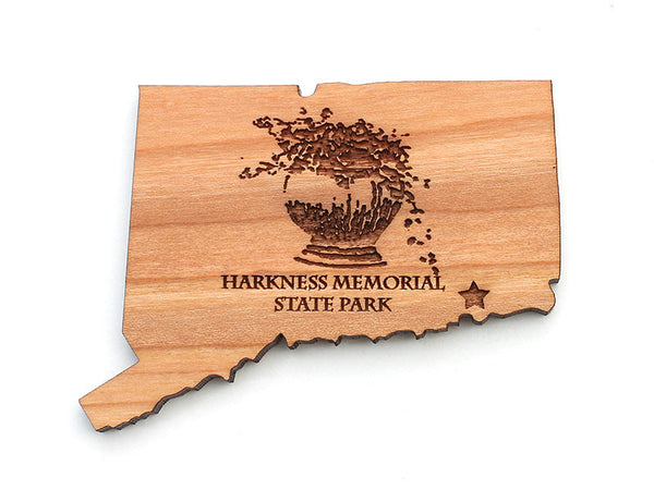 Harkness Memorial State Park Connecticut State Logo Magnet