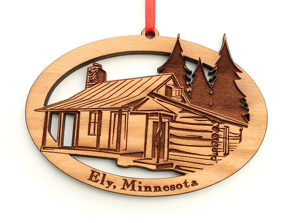 Mealey's Cabin Custom Ornament - Nestled Pines
