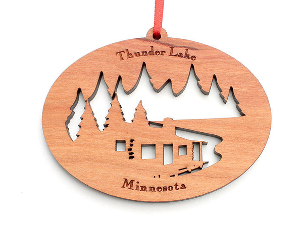 Northwoods Cabin Ornament - Nestled Pines