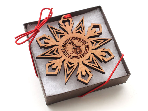 Calgary Stampede Snowflake Logo Ornament Gift Box