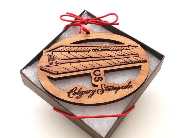 Calgary Stampede Grand Stand Oval Ornament Alt