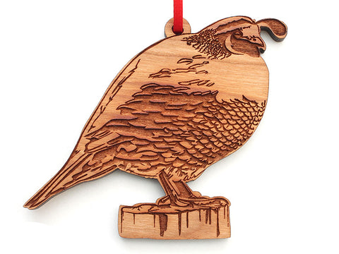 California Quail Ornament