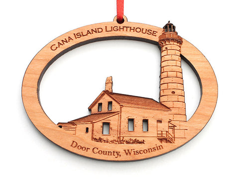 Cana Island Lighthouse Ornament - Nestled Pines