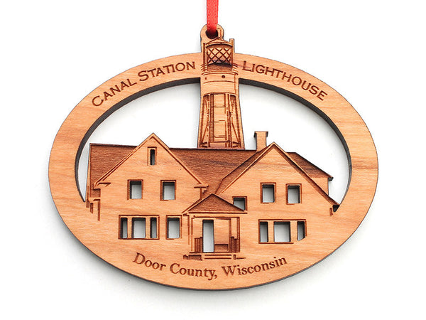 Canal Station Lighthouse Ornament - Nestled Pines