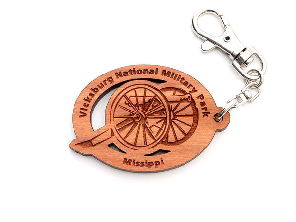 Vicksburg NMP Cannon Key Chain ALT - Nestled Pines
