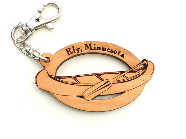 Mealey's Custom Canoe Key Chain - Nestled Pines