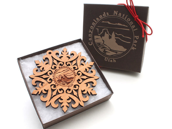 Moab Canyonlands NP Snowflake Ornament Gift Box - Nestled Pines - 2