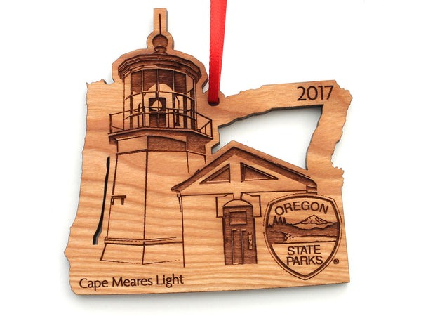 Oregon State Parks Cape Meares Lighthouse Shield Ornament