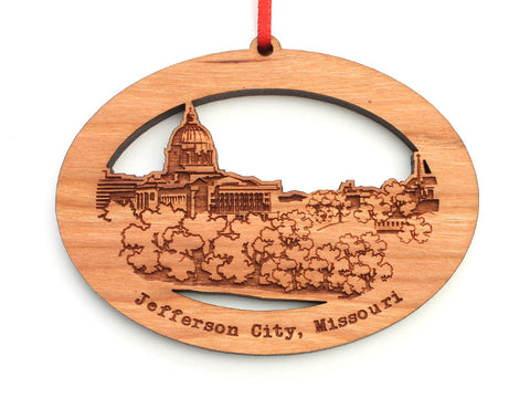 Jefferson City Missouri Oval Ornament - Nestled Pines