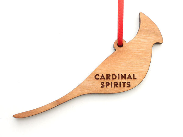 Cardinal Spirits Logo Cut Out Engraved Ornament