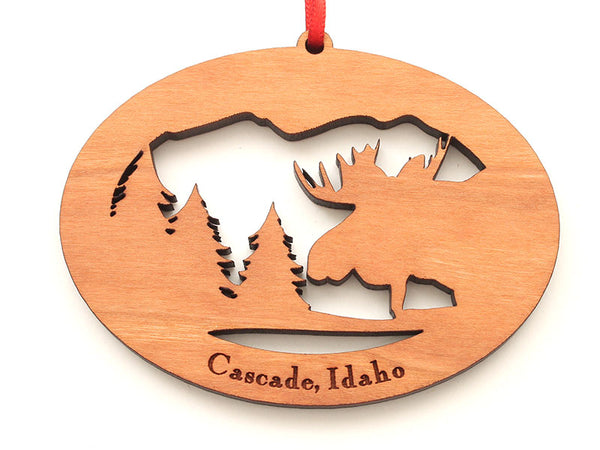 High Mountain Decor Northwoods Moose Ornament