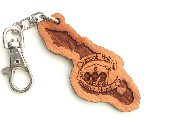 Overlook Hall Catalina Island Custom Key Chain - Nestled Pines