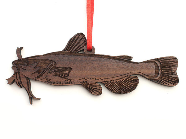 Macon Georgia Catfish Custom Ornament - Nestled Pines