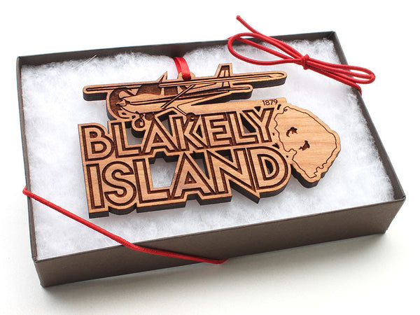 Blakely Island Cessna Airplane Text Ornament