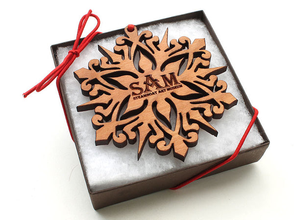 Steamboat Art Museum Cherry Snowflake Gift Box