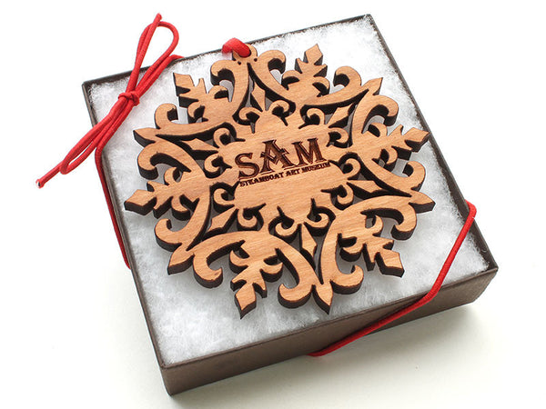 Steamboat Art Museum Medallion Snowflake Gift Box