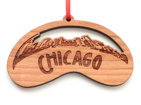 Chicago Bean City Skyline Chicago Ornament